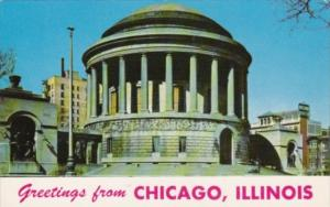 Illinois Greetings From Chicago Showing Elks War Memorial