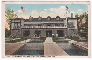 Boat Canoe Club Grand Rapids Michigan 1920c postcard