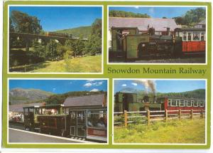 UK, Snowdon Mountain Railway, 1991 used Postcard
