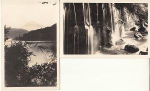 Japan Hakone lot 2 real photo postcards Showa-Shashin Hinode photo paper