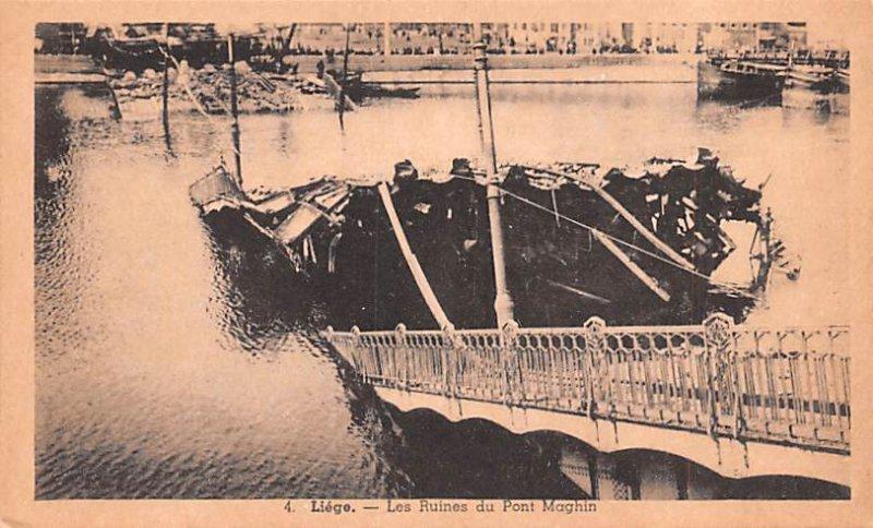 Les Ruines du Pont Maghin Liege Belgium Unused