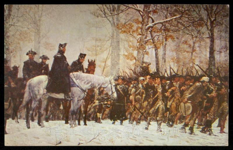 General Washington Reviewing his Troops at Valley Forge