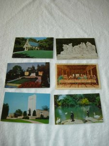 Glendale CA - Lot Of 6 Forest Lawn Vintage Postcards - x0340