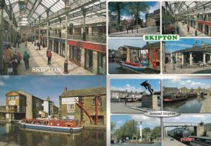 Skipton T Shirt Market Seller Around Shops Boat Dales Outdoor Centre 4x Postcard