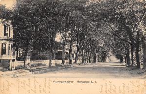 Hempstead Long Island New York~Washington Street Homes~Picket Fence~1905 B&W PC