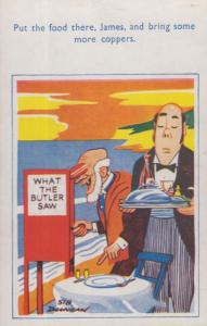Dirty Old Man By What The Butler Saw Peeping Tom Fair Machine Comic Postcard