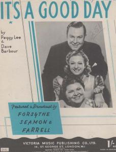 Its A Good Day Forsythe Seamon Farrell 1940s Sheet Music