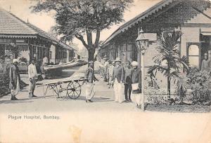 India Bombay, Mumbai, Plague Hospital, cart, native people