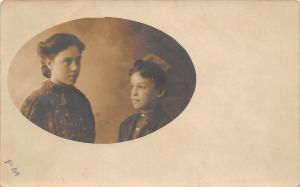 Real Photo Postcard~Brother Sister Pic~Miss Florence Moffit Marquette NE~c1912