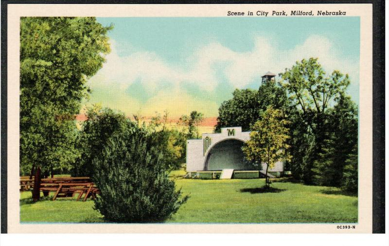 MILFORD, Nebraska, 1930-1940's; Scene In City Park