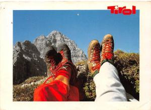 Tirol Tourists Feet Mountain Berg