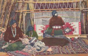 Navajo Indian Rug Makers Curteich
