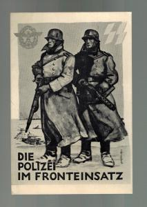Mint WW 2 Germany Waffen SS Soldiers Border Order Police Postcard 1942