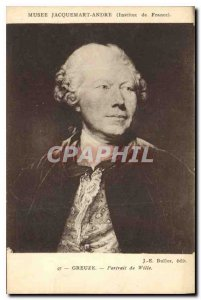 Old Postcard Musee Jacquemart Andre Institut de France Creuze Portrait of Willie