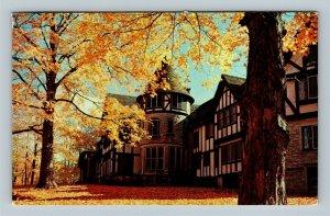 Newbury OH, Manor House, Punderson State Park, Chrome Ohio Postcard