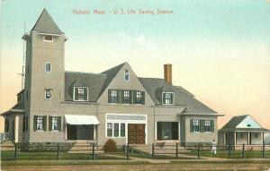 C-1910 Postcard Nahant Massachusetts US Life Saving Station Leighton 5759