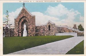 Massachusetts Wollaston Saint Annes R C Church