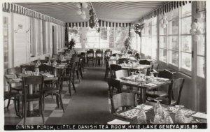 RP; LAKE GENEVA , Wisconsin, 1930-40s ; Dining Porch, Little Danish Tea Room