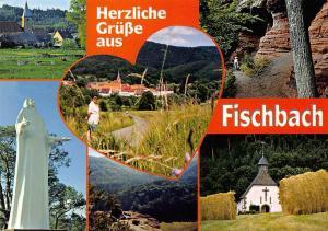 Fischbach im romantischen Wasgau Kapelle Chapel Statue Panorama