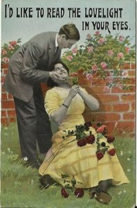 I'd like to read the lovelight in your eyes Cheeky Edwardian Couple