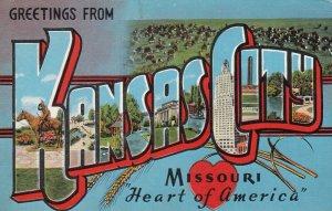 Large Letter KANSAS CITY , Missouri , PU-1947 ; Ver-2