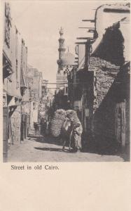 CAIRO , EGYPT , Loaded donkey on street, 1890s
