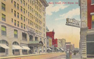E0079 IN, Fort Wayne Berry Street Postcard