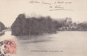 CHALONS-sur-MARNE , France , PU-1908 - Vue du Canal. L'lle