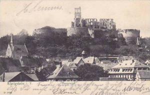 Germany Koenigstein Burgruine 1905
