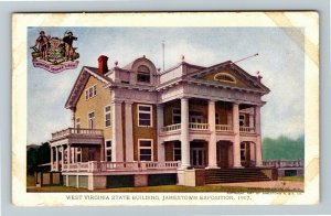 Jamestown Exposition 1907 No. 195 West Virginia State Building Official Postcard