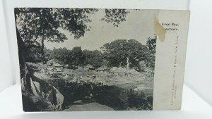 Vintage Postcard Village Scene Freetown Sierra Leone Circa 1900