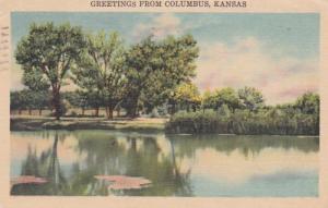 Kansas Greetings From Columbus 1949