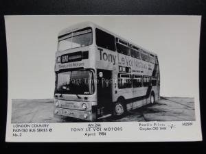 BUS: LONDON, TONY LE VOI MOTORS, AN244 Pamlin Print Postcard No.M2509