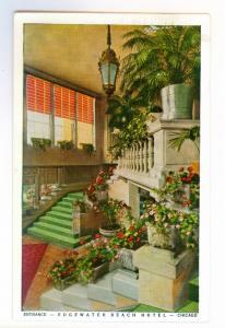 Chicago, Illinois to Mason City, Iowa 1938 used Postcard, Edgewater Beach Hotel