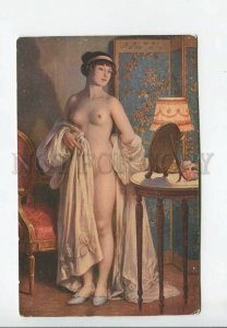 3176698 Illuminated NUDE Lady MIRROR by SCALBERT vintage SALON