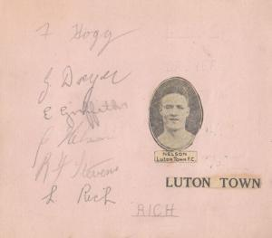 Luton Town Football Club Antique 9x 1930s Hand Signed Autograph s