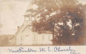 D20/ New Trenton Butler County Ohio Postcard Real Photo RPPC c1910 M.E. Church