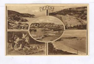 St Ives, Cornwall, England, 5-view postcad , 1910-30s