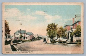 CHAMBERSBURG PA GLEN STREET ANTIQUE POSTCARD