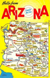 Maps Arizona USA Unused