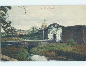 Old Postcard PARIAN GATE Manila Philippines F5568