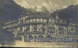 Interlaken Swizerland, Schweiz, Svizzera, Suisse Hotels Terminus und Jura  Ho...