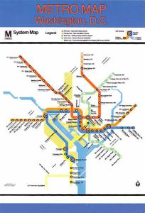 Metro Map - Washington, DC