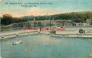 MO, Kansas City, Missouri, Electric Park, Roller Coaster, Elite Postcard No 570