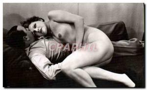 Postcard Old Woman Nude Erotic Pornographic