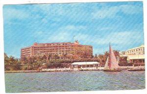 Bermudiana Hotel, Hamilton Harbor, Sail Boat,  Bermuda, PU-1954