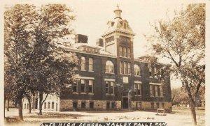 RPPC High School VALLEY FALLS Kansas ca 1910s Vintage Real Photo Postcard