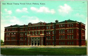 Pittsburg, Kansas Postcard State Manual Training Normal School Curteich c1910s