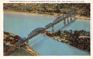 KY Postcard, Kentucky Post Card Aeroplane View of K and I Bridge Unused