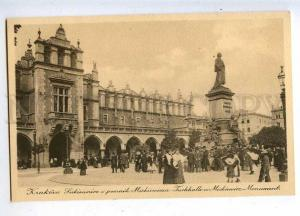 206548 POLAND KRAKOW Mickewicz monument Vintage postcard